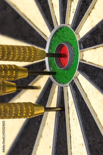 Success hitting target aim goal achievement concept background Plakát