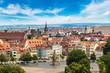 Leinwanddruck Bild - Panoramic view of Erfurt
