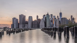 New York Skyline brooklyn view long exposure
