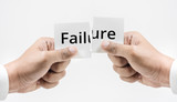 Failure word,hope and motivation concept