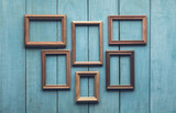 old frames on wooden wall - 133054072