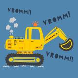 cute construction machine