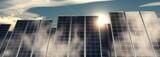 Solar panels against the sky.