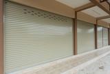 roller shutter door in warehouse building - 133065449