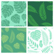 Cotton fabric Vector set of seamless patterns