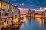 Wenecja. Pejzaż obraz Grand Canal w Wenecji, z Bazyliki Santa Maria della Salute w tle.