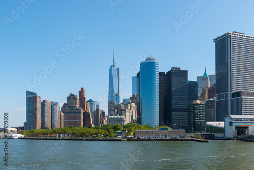 New York Manhattan - Skyline, Financial Destrict Poster
