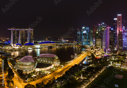 Singapore city skyline Poster