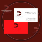 fast abstract business card logo