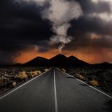 volcan route paysage aventure découverte goudron rouler volcan