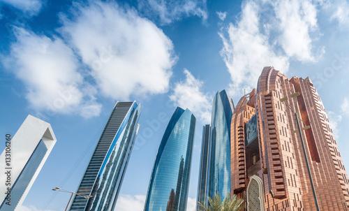 Papiers peints Abou Dabi Abu Dhabi skyline, UAE