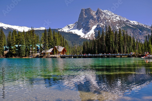 Springtime at Emerald lake, Yoho National Park in British Columbia © jaylopez