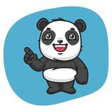 Panda Points Finger