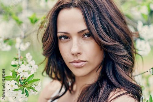 Poster Beautiful woman face
