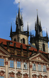 Church of Our Lady Tyn from Old Town Square in Prague