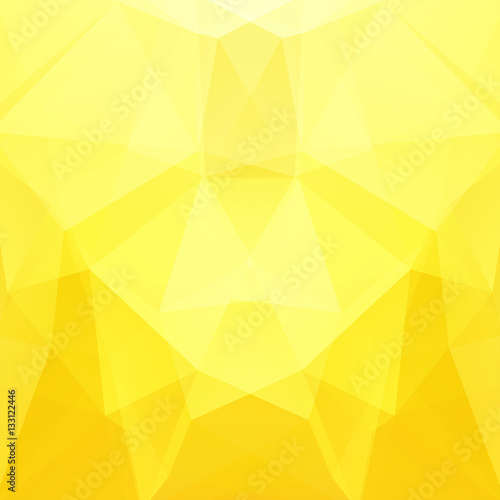 Abstract polygonal vector background. Yellow geometric vector illustration. Creative design template.