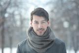 handsome man in coat
