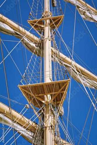 Poster Mast of Sailboats