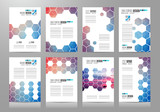 Set of Brochure templates, Flyer Designs or Depliant Covers for business
