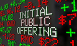 Initial Public Offering IPO Stock Market Ticker 3d Illustration