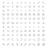 Thin line arrow icons set - 133155859