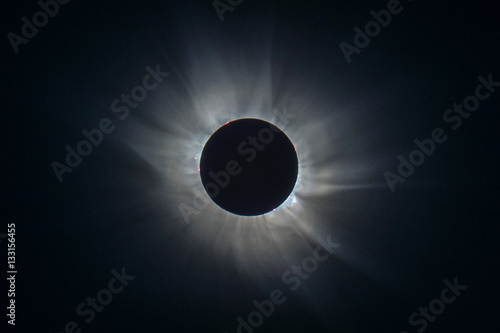 Foto op Canvas Heelal Total Eclipse 2015 From Svalbard