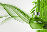 Shower Gel Bottle Template for Ads or Magazine Background. 3D Re