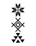 Navajo print, Aztec pattern, Tribal design, Native American - 133173063