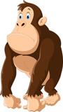 Cute gorilla cartoon