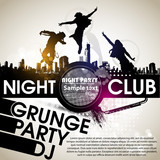 Grunge banner with an inky dribble strip with copy space. Abstract background for party