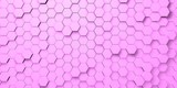 Digital hexagons background
