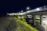modern viaduct night, Banska Bystrica, Slovakia