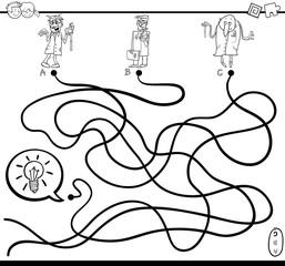 idea maze game coloring page