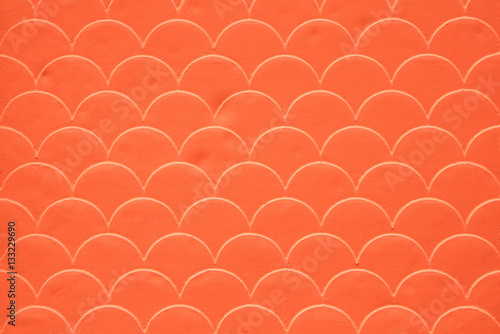 Fish scale seamless pattern on decorated cement wall Poster