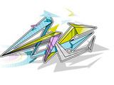 Color Arrows Graffiti background. Graffiti banner. Vector illustration.