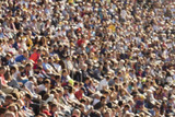 Blurred crowd in stadium