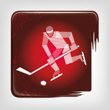 Ice Hockey stripy icon