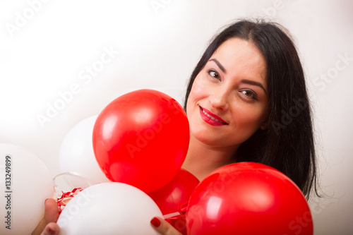 Poster  Girl with balloons
