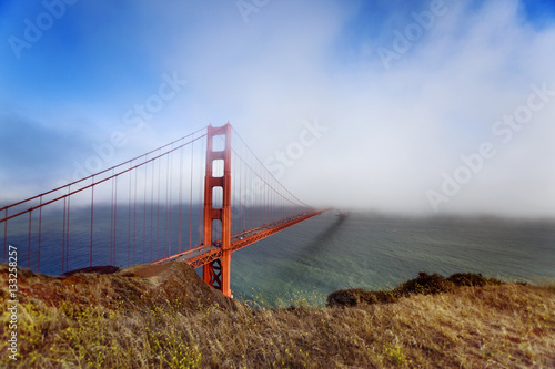 Poster Golden Gate in Fog