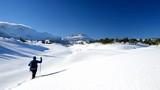 karlı havada yürüyüş