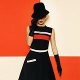 Lady Retro Style Cabaret vintage clothing. Minimal Fashion. Stri - 133295201