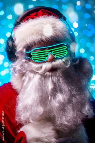 Poster cool DJ Santa