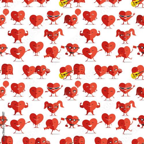 Materiał do szycia Czerwone serca.