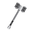Isolated hammer on a white background, Vector illustration
