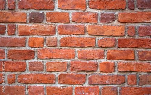 Fototapeta Red brick wall texture grunge background