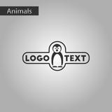 black and white style icon penguin logo
