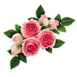 Pink rose flowers arrangement