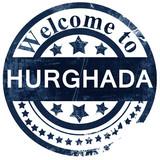 hurghada stamp on white background - 133329602
