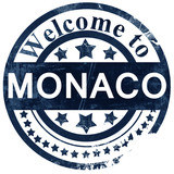 Monaco stamp on white background