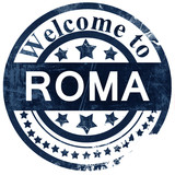 Roma stamp on white background